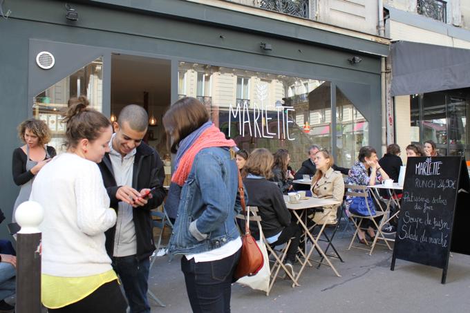 Café Marlette, simpático restaurante orgânico em Paris