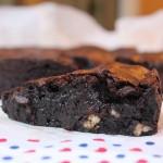Brownie de chocolate molhadinho e puxento
