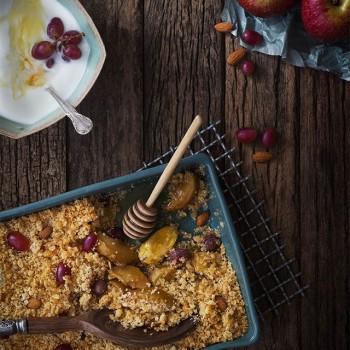 farofa doce com banana e maçã receita